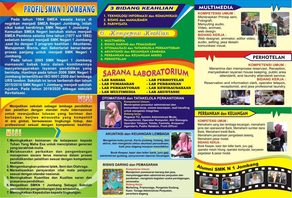 Jadwal Penerimaan Peserta Didik Baru SMK Negeri 1 Jombang Tahun Ajaran 2019/2020